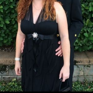 Betsy and Adam Black formal gown